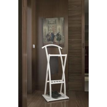 valet de nuit en rotin coloris blanc. Black Bedroom Furniture Sets. Home Design Ideas