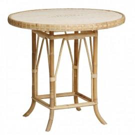 Table Grand Père Rotin Naturel Diamètre 80 cm