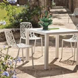 Chaises Aluminium Forest Blanc