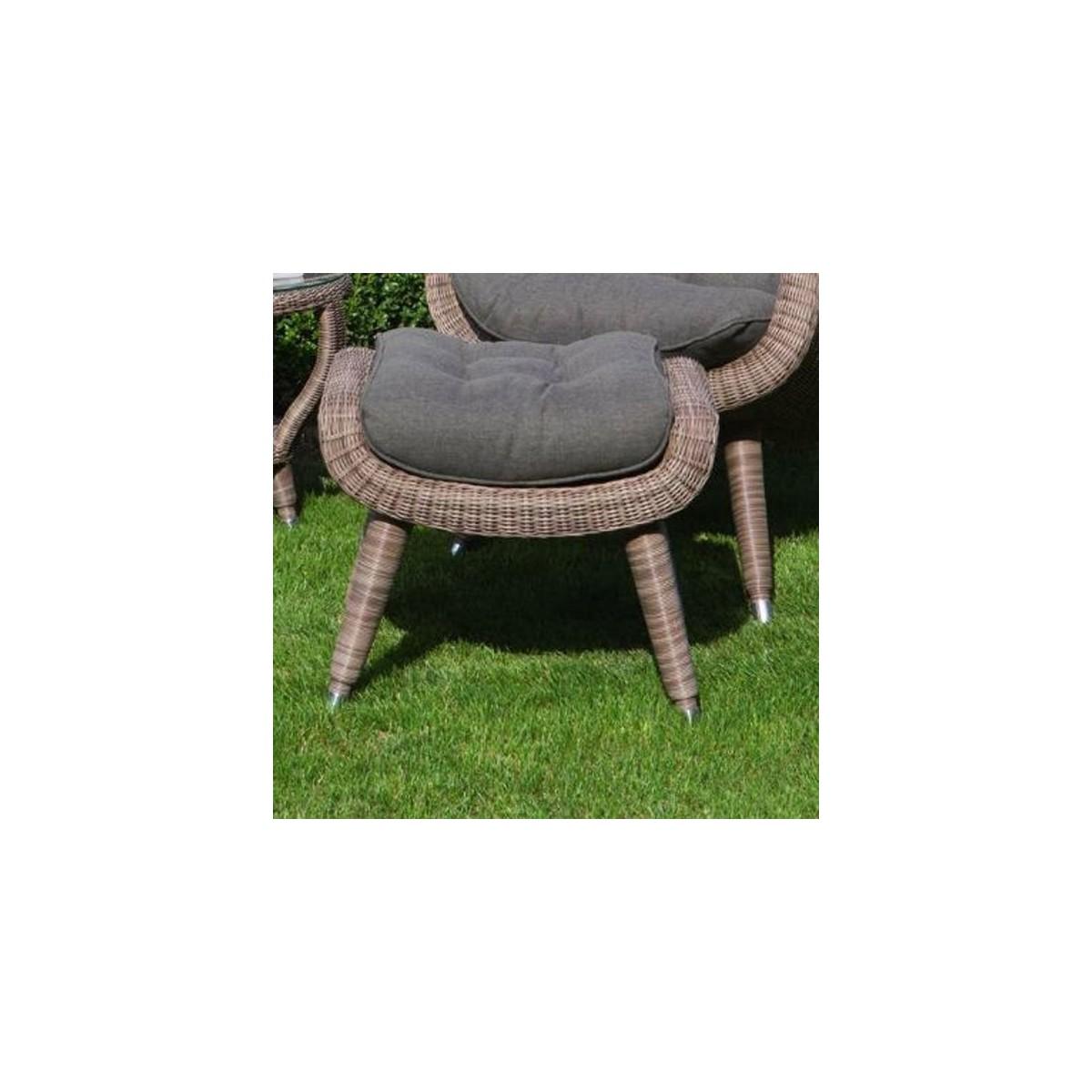 fauteuil en r sine et aluminium sp cial ext rieur coloris gris. Black Bedroom Furniture Sets. Home Design Ideas
