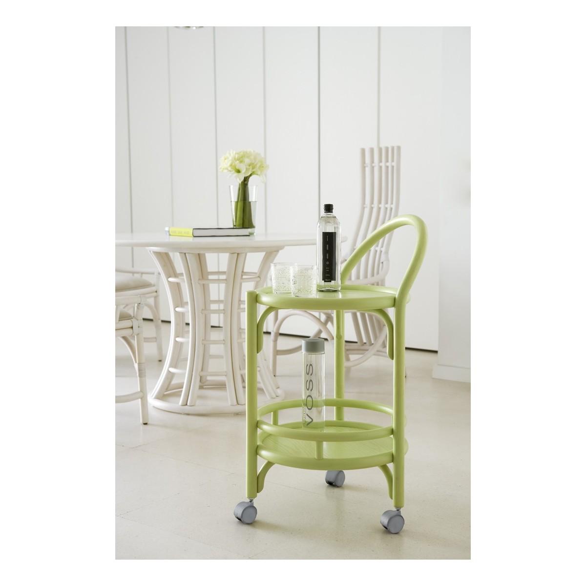 table roulante desserte de table en rotin. Black Bedroom Furniture Sets. Home Design Ideas
