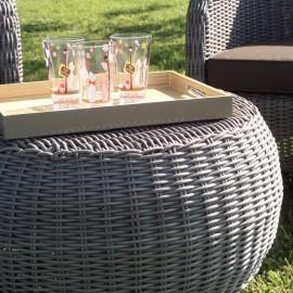 Table Basse Salon résine Moski Taupe