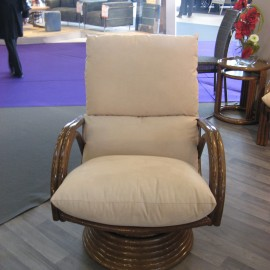 Fauteuil Pivotant Leeds Tabacco
