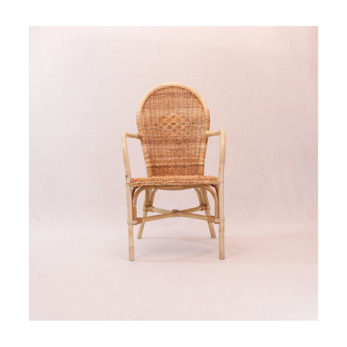 fauteuil victoria rotin naturel - Fauteuil De Table