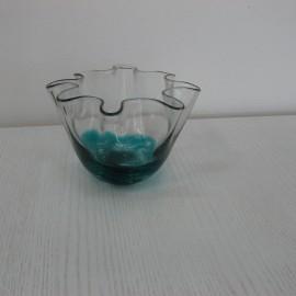 Coupe en verre Corolle Bleue