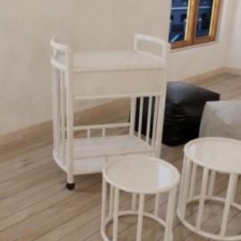 Table Roulante Zante Blanc