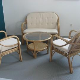 Salon Ikoa Canapé 2P + 2 fauteuils