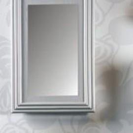 Miroir Rotin Kubiki 62x92 Argent