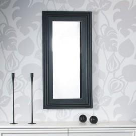 Miroir Rotin Kubiki 62x112 Noir