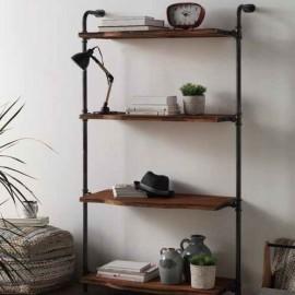 Etagère Métal et bois à accrocher au mur