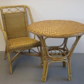 Table Valentin Noisette Diam 76 cm