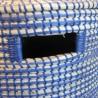 Panière à linge en Jonc Bleu 38x38