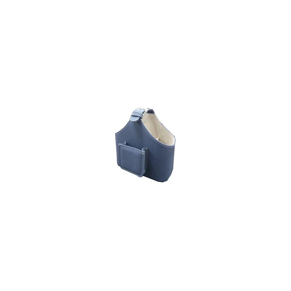 Porte télécommandes panier Bleu