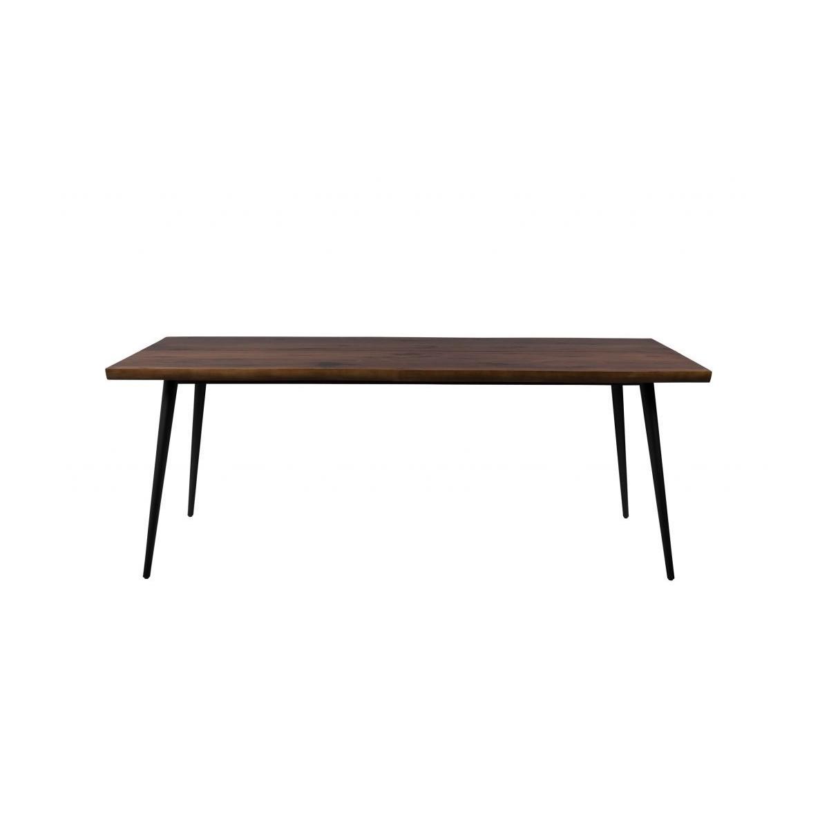 Table en Noyer et Métal 180x90