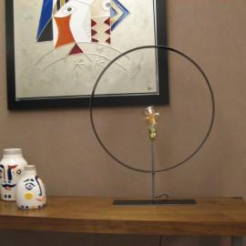 Lampe Iron Noir Anneau 60 cm
