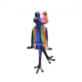 Statue Grenouille H 50 cm Coloré