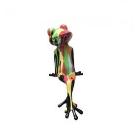 Statue Grenouille H 45 cm Colorée