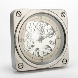 Horloge Jules Argent 37x37