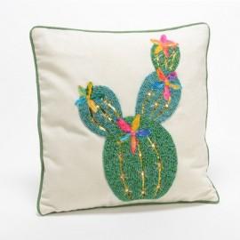 Coussin Cactus avec perles 40x40