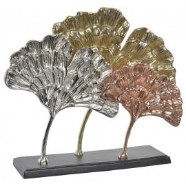 Figurine Aluminium Feuilles Ginkgo