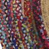 Tapis coton et jupe 160x160 tressé multicolore