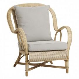 fauteuil Nantucket Rotin Naturel
