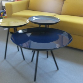 Table basse Email Bleue