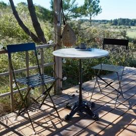 Table Bistrot marbre Diam 60 cm