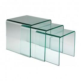 Tables Gigogne en verre