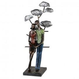 Sculpture Coouple devant Ginko
