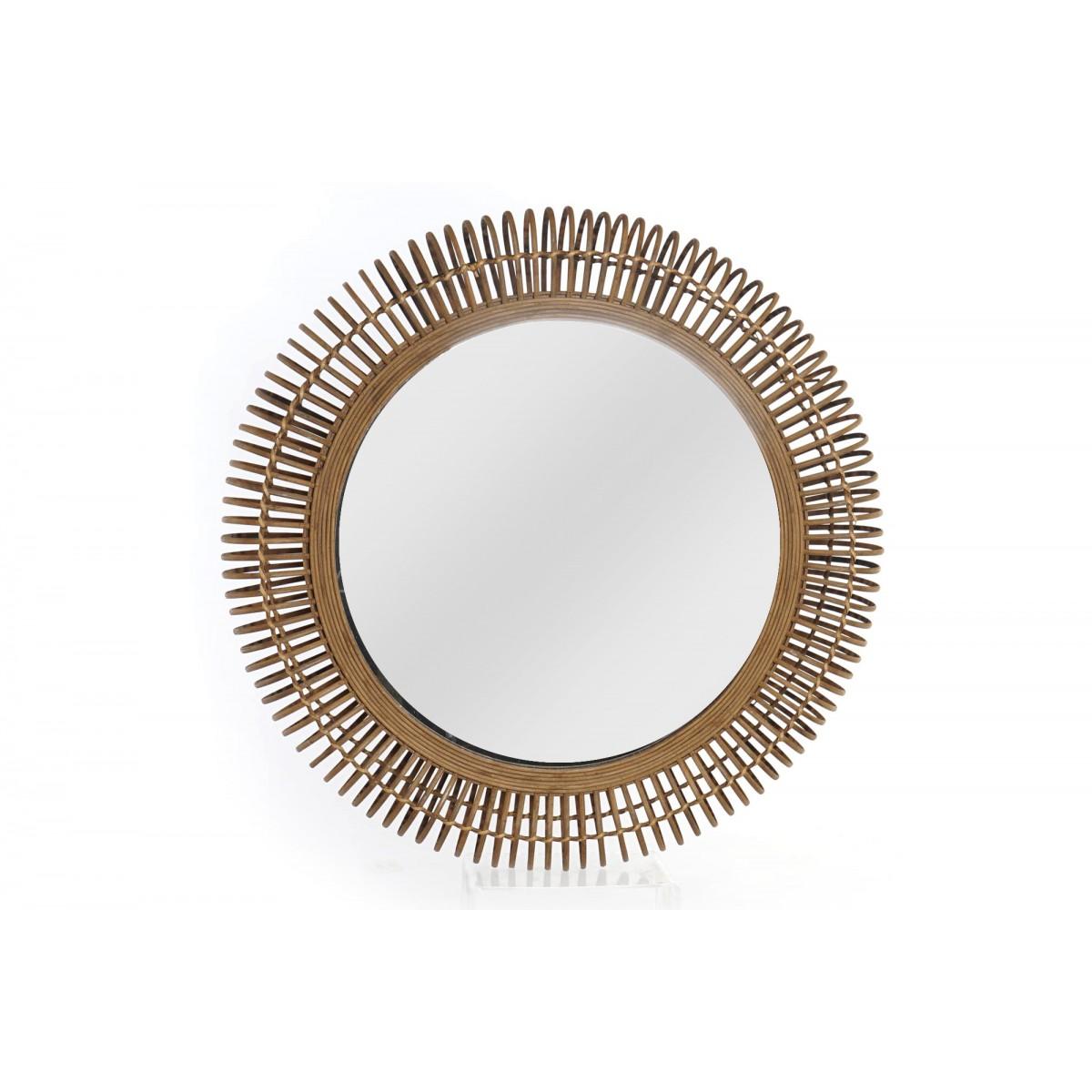 Miroir Verton 50X50 Rotin Naturel