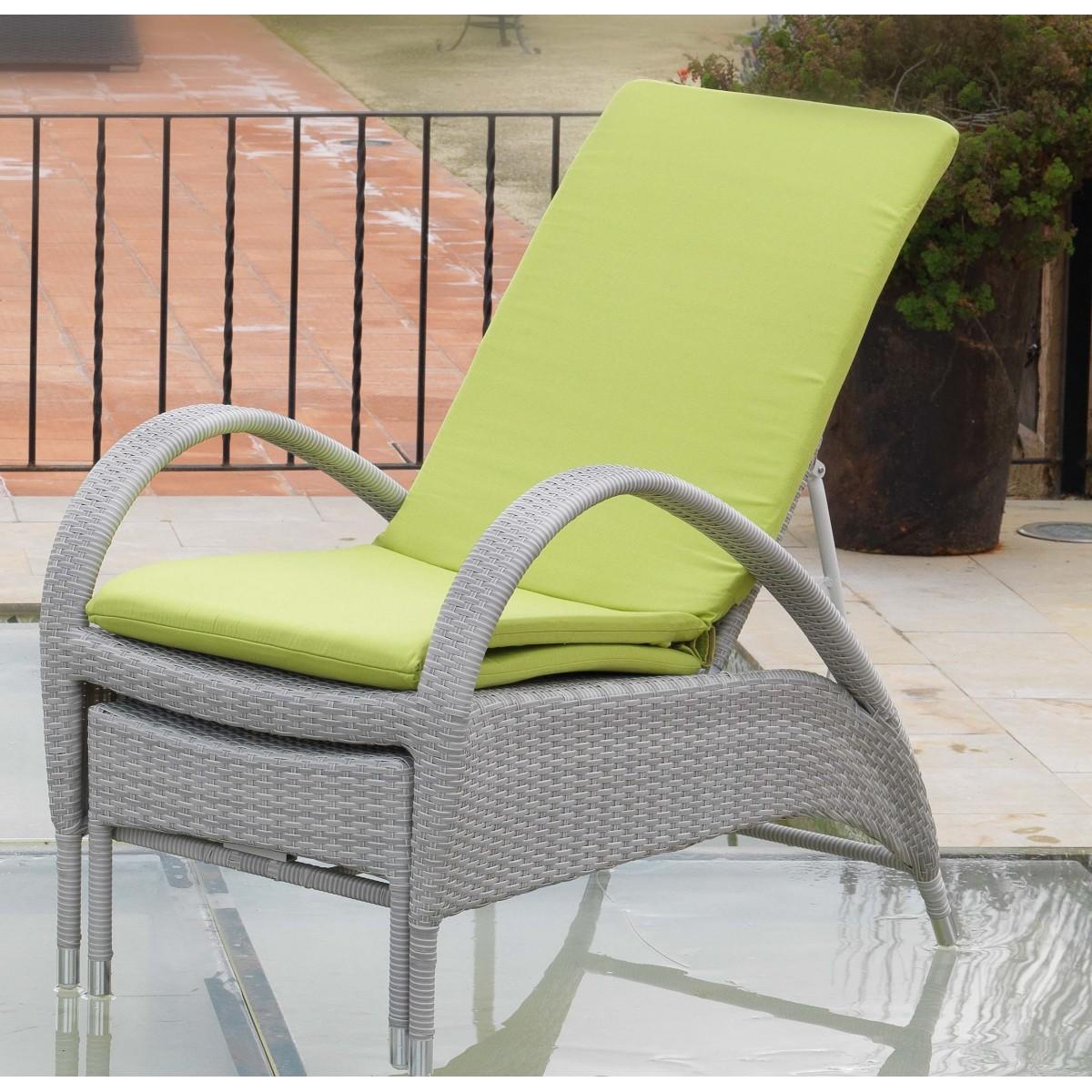 chaise longue en aluminium et r sine grise sp cial ext rieur. Black Bedroom Furniture Sets. Home Design Ideas