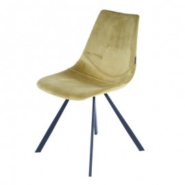 Chaise Alecia Velours Moutarde