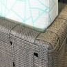 Salon Cube Aluminium : Canapé 3P + 2 Fauteuils