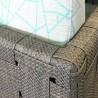 Salon d'angle Cube Aluminium