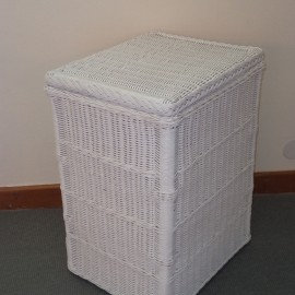 Panière à Linge 50x40 Blanc Laqué