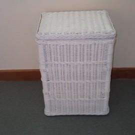 Panière à Linge 40x30 Blanc Laqué