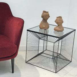 Bout de canapé Cube design