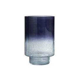 Vase en verre craquelé sur pied