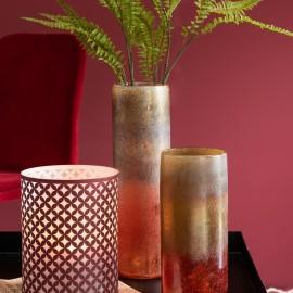 Vase Cylindrique Bordeaux ocre