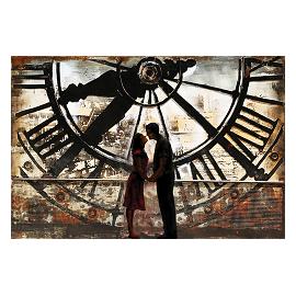 Décoration Murale Métal Horloge de Gare