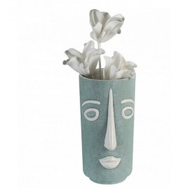 Vase Face céramique vert clair
