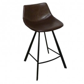 Tabouret de bar Alecia Marron