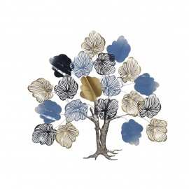 Décoration Murale Arbre de Vie Bleu 115x109