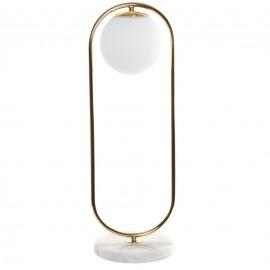 Lampe Métal Doré ET Globe de verre