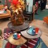 Tables Basses Tricolore en Aluminium Noir 70x70