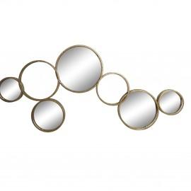 Miroir Métal 7 cercles Doré 129 x 60 cm