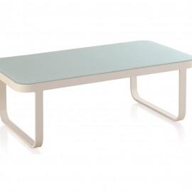 Table Basse Cires Aluminium et verre 130x70
