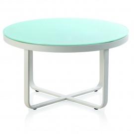Table Basse ronde Cires Aluminium et verre 80x80