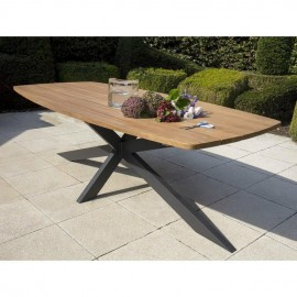 Table de repas Teck Outdoor Aras 240x110cm
